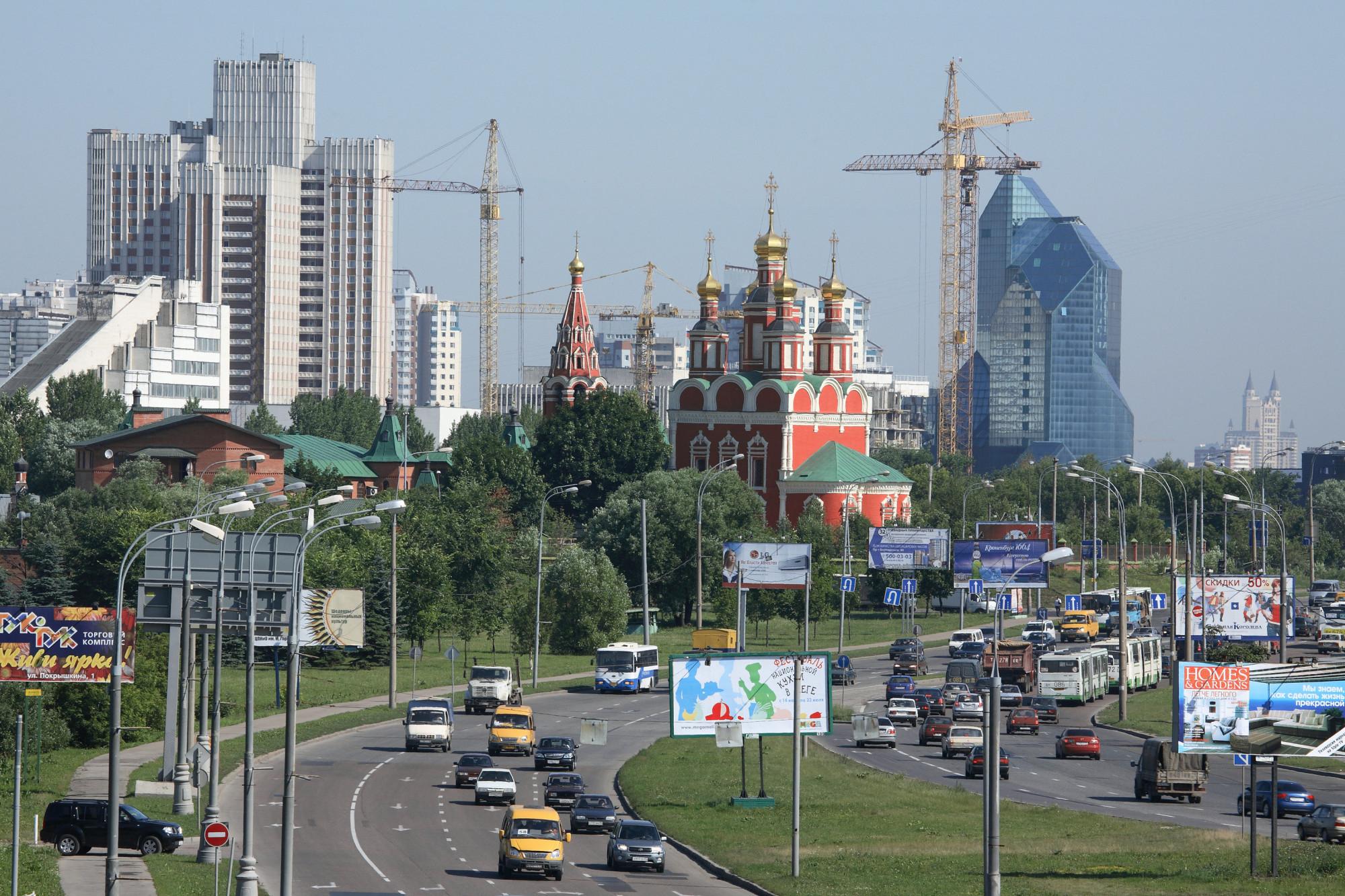 2002 Церковь Архангела Михаила на проспекте Вернадского. Юрий Артамонов, РИА Новости