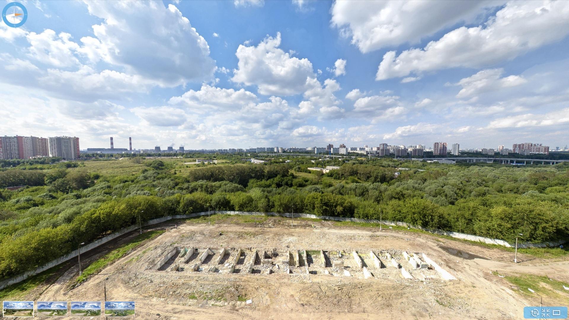 Точка съемки примернов районе строящегося ЖК Небо (скриншот с их сайта)