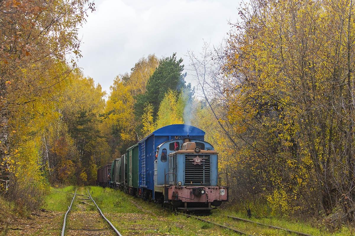 Подъездной путь от станции Очаково-III, тепловоз ТГМ1-1470, 11 октября 2019 г. (автор Сергей С.)