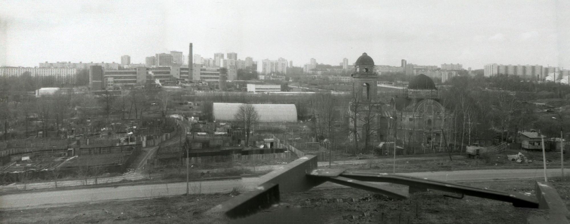 1989-90 Панорама Троекурово с высоковольтной вышки. Kaisersouze