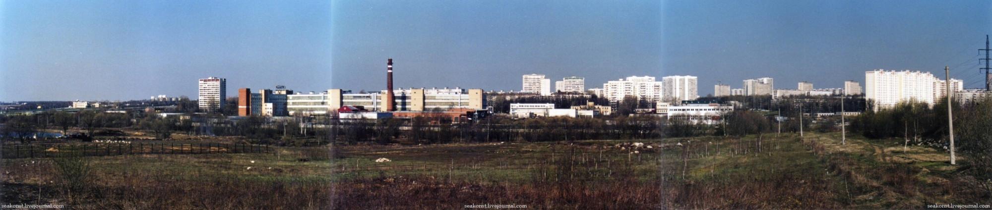 2004 Панорама бывшего имения Троекурово, кожзавода и 95-го квартала района Кунцево