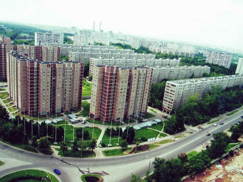 2000 Новые дома на Веерной улице, д.1 к1 и 2. Фото 2000 года