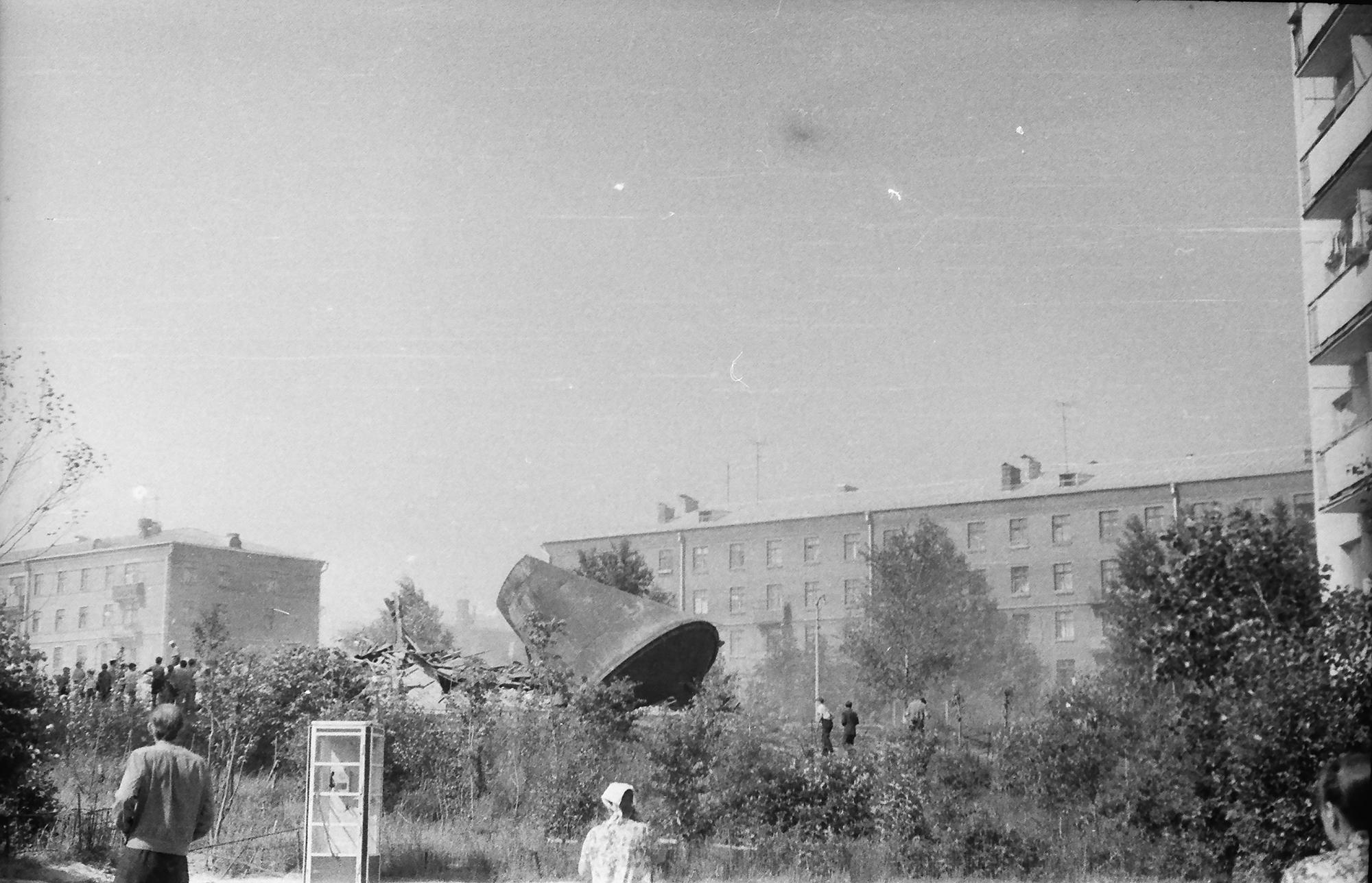 1975 водокачка сразу после взрыва