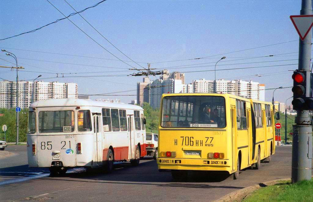 1998 автобусы, Мичуринский проспект. Фото Эдуарда Лотоцкого