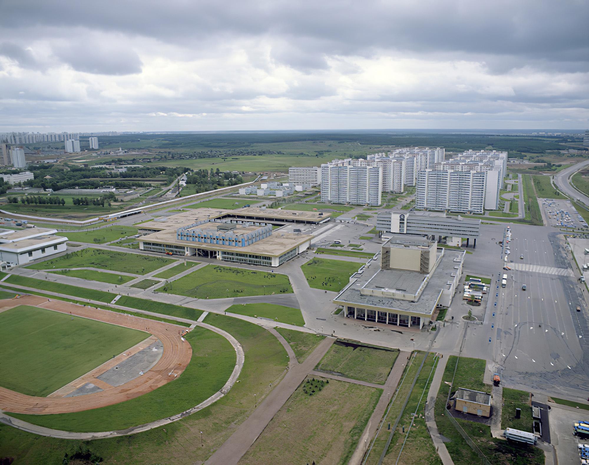 1980 Панорама Олимпийской деревни. Пахомов