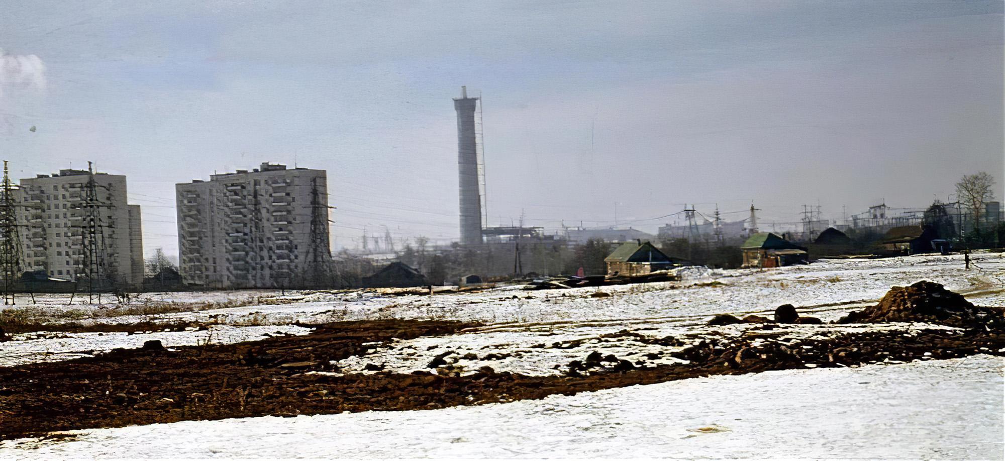 1976-77 Аминьево. Последние дома деревни