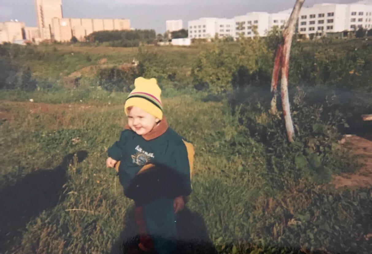 1994 (примерно). У дома 11 на ул. Озерная. Из архива Лидии Любарской2