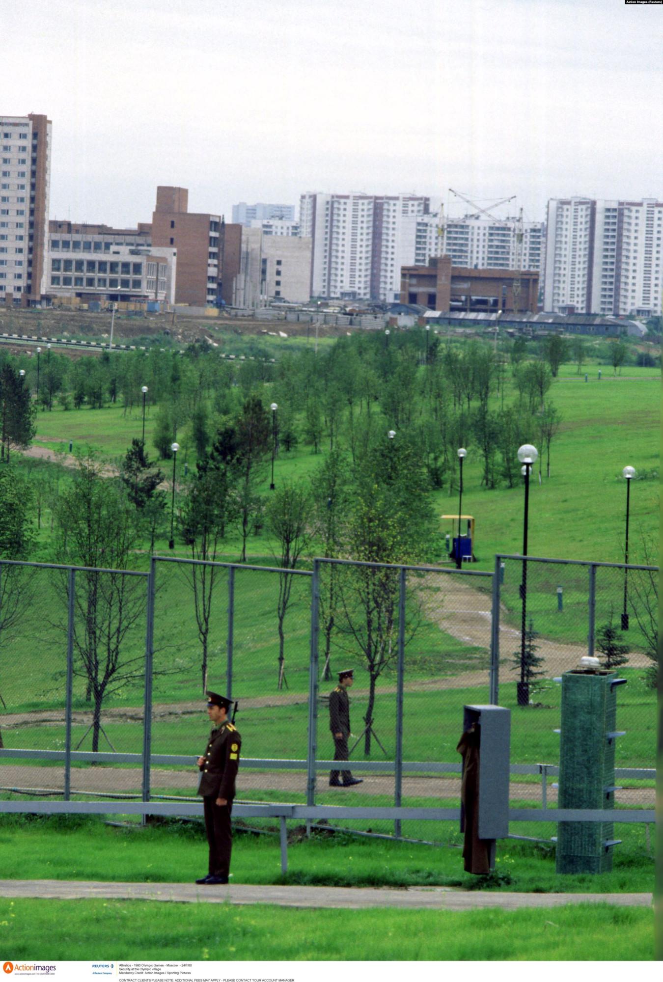 Вооруженная охрана Олимпийской деревни в дни Олимпийских игр 1980 года