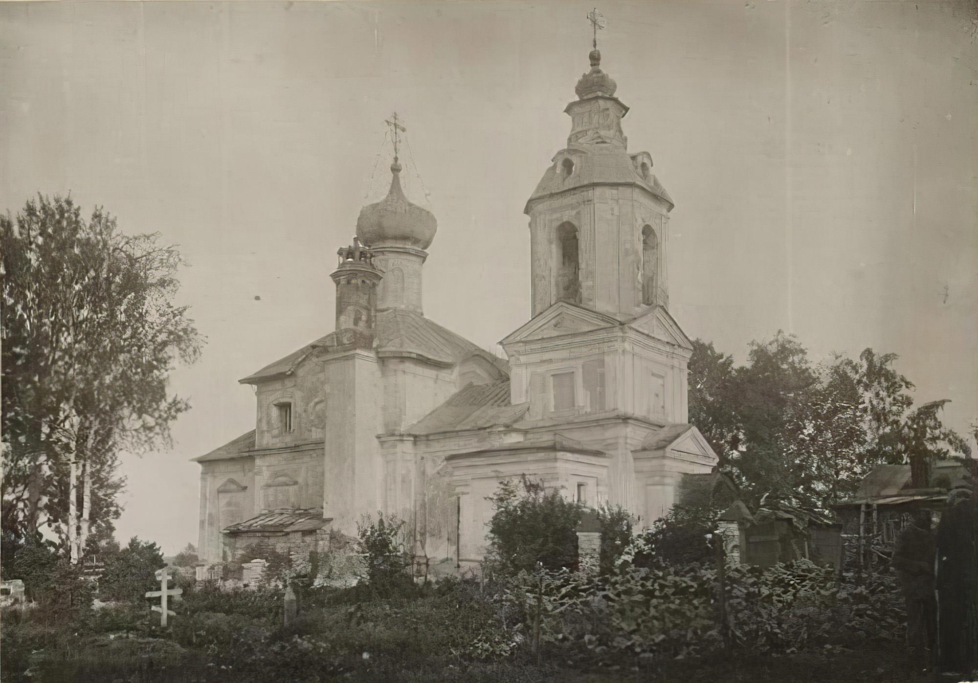 1932с Лебедев А.Т. Храм Димитрия Ростовского, 1759 г. Общий вид с северо-запада_cmpk