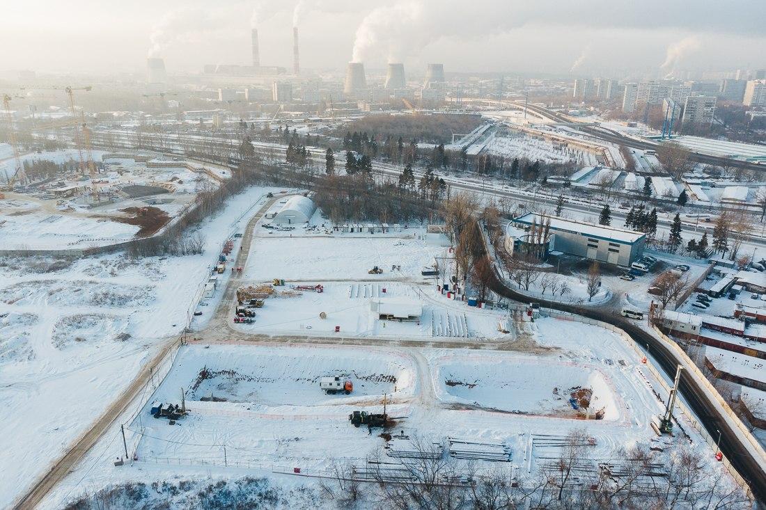2018 начало строительства ЖК Огни (декабрь)