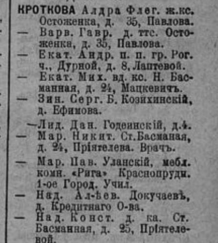 1911 Кроткова Лидия Даниловна