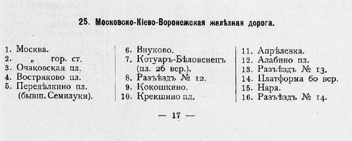 1908 Список станций российских железных дорог в алфавитном и географическом порядке их расположения. - Санкт-Петербург