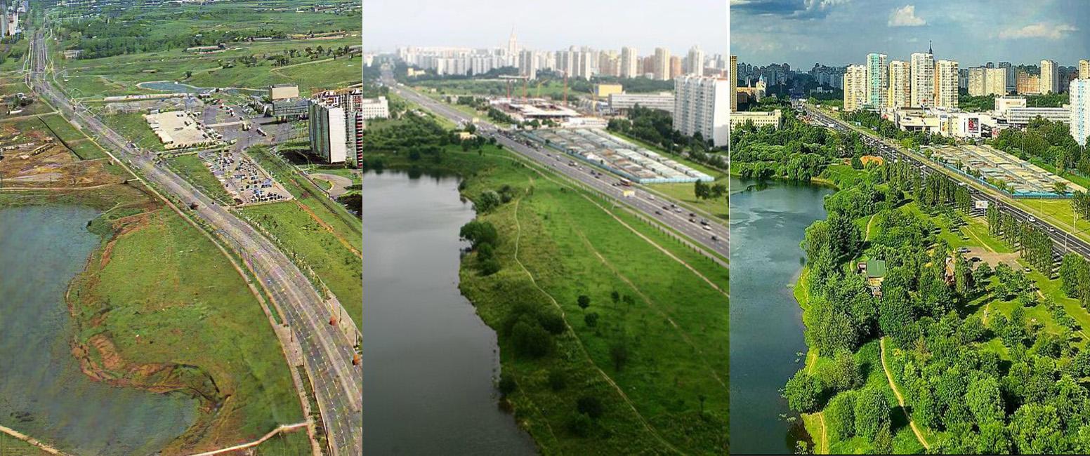 1980-2005-2018 пруд