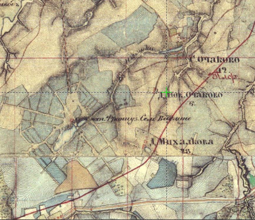 1852 карта Шуберта