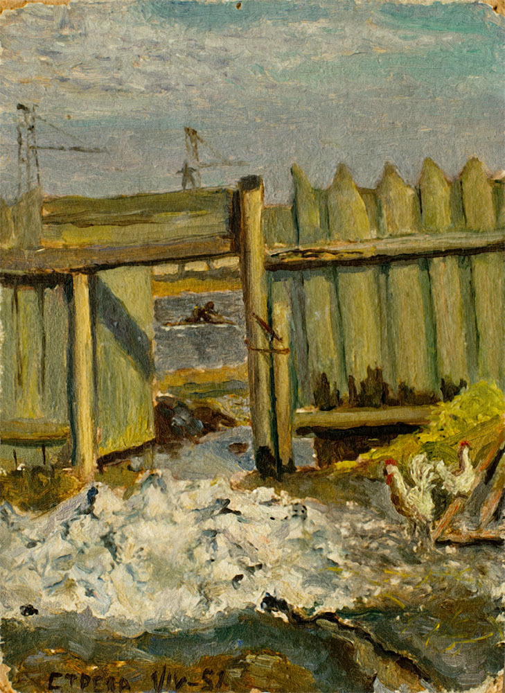 1950 Очаково. Последний снег. 1 апреля 1950 Стрелков И.Г.