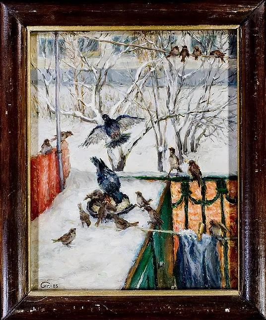 1985 Зимой на балконе