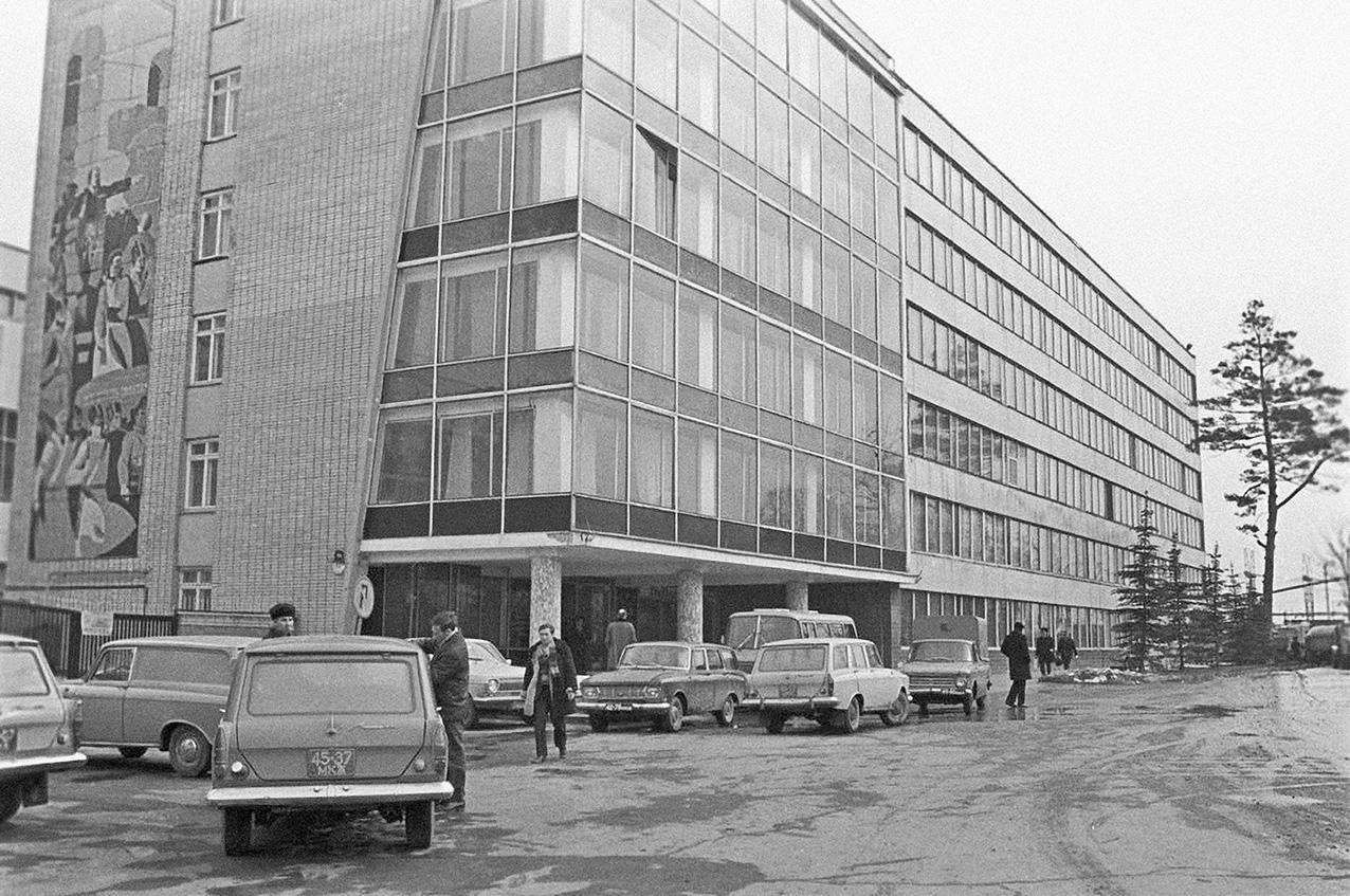 1974 Московский Межреспубликанский винодельческий завод. Общий вид административного корпуса. А. Чепрунов