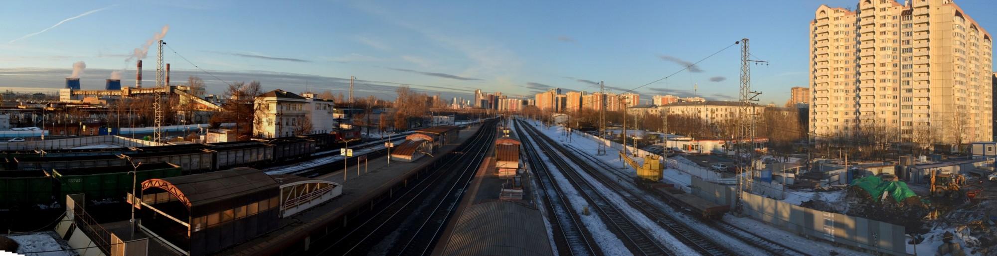 2021.03.24 панорама станции Очаково (склейка)