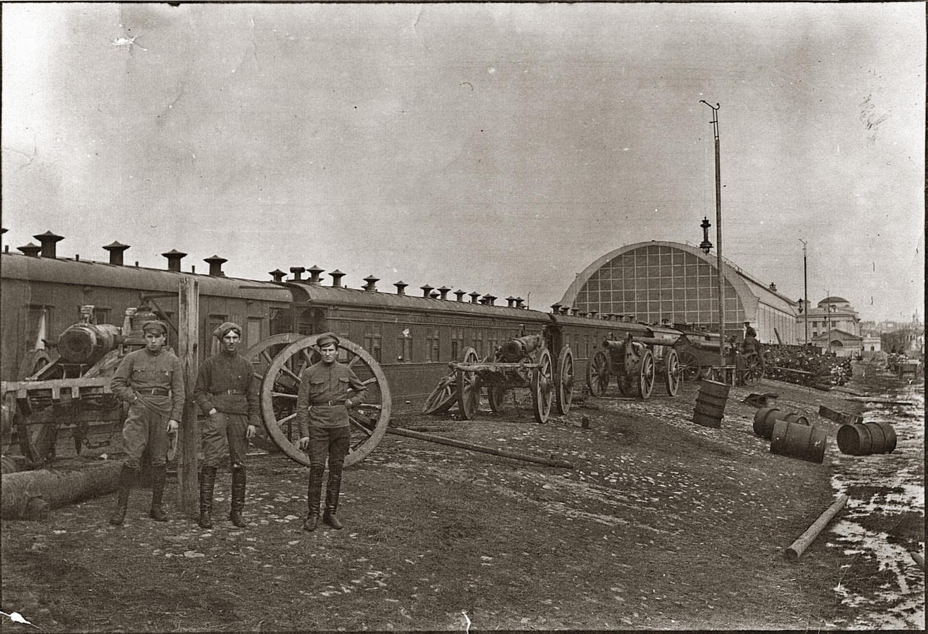 1918 Латышские стрелки на Брянском вокзале
