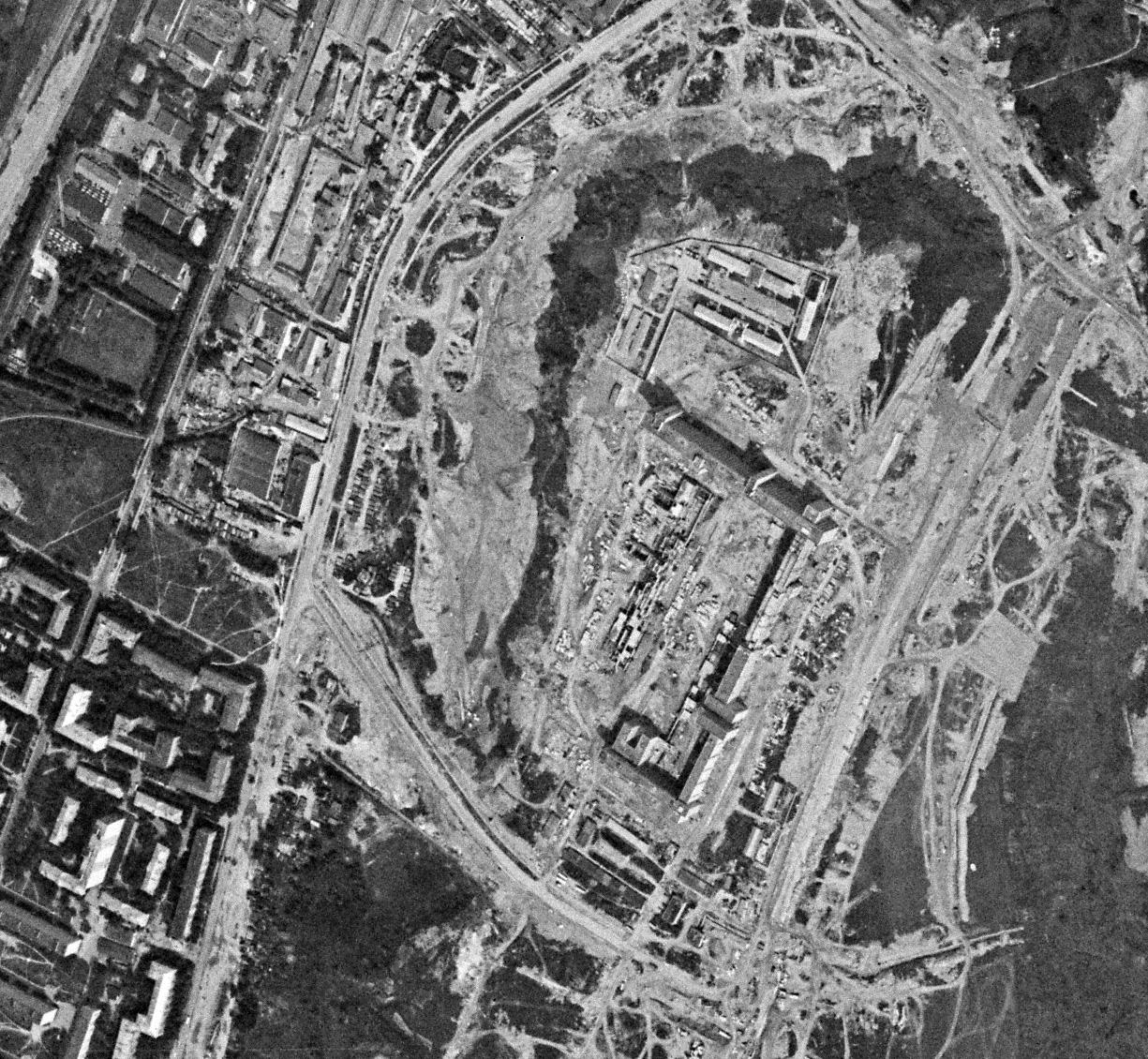 1977 Строительство ВШ КГБ, вид от 22 июля 1977 г.