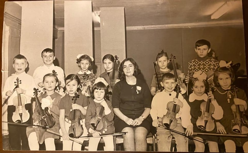 1973-74 Старая музшкола Очаково. Елена Федулова