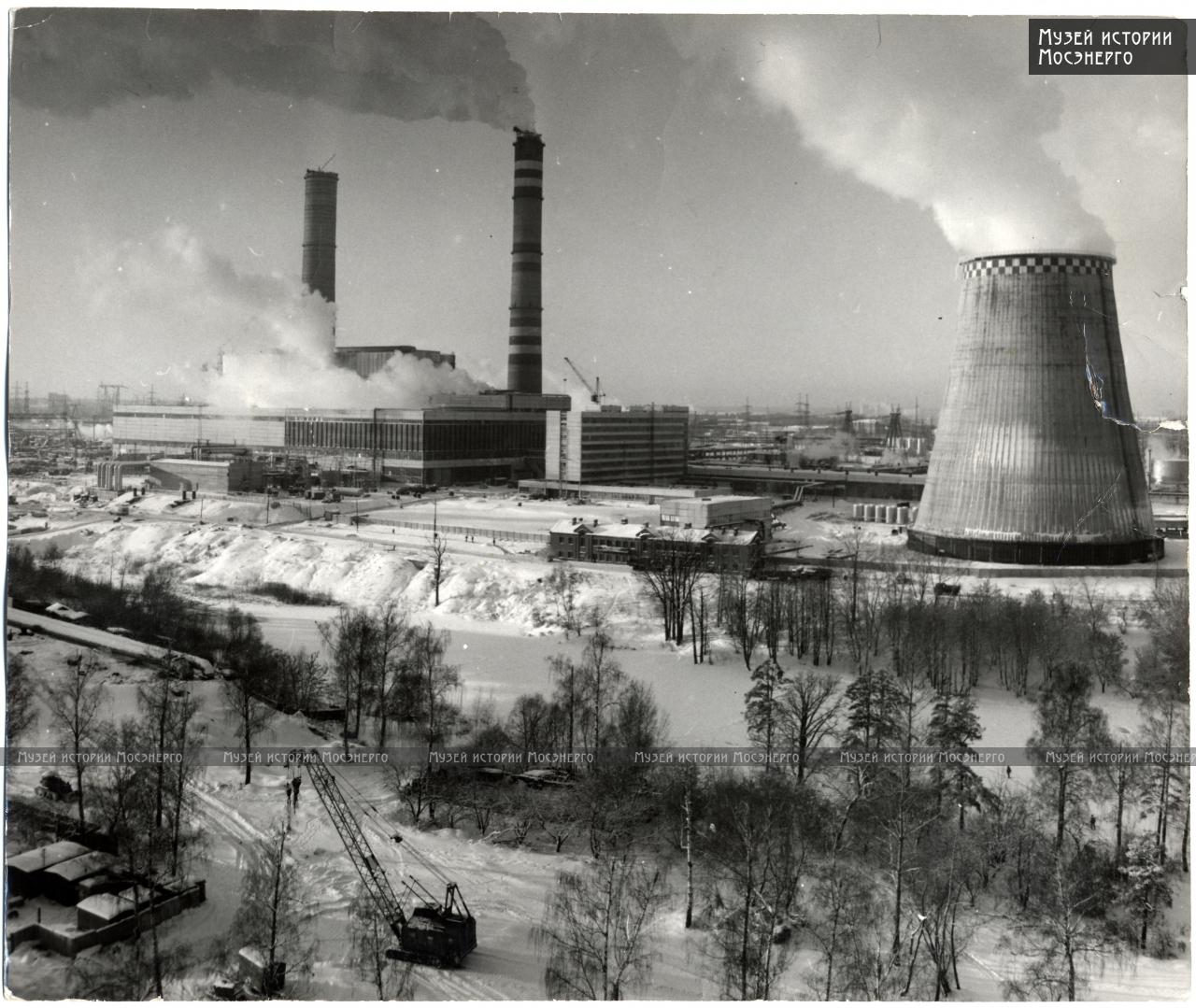 1980 вид на ТЭЦ-25 (зима)