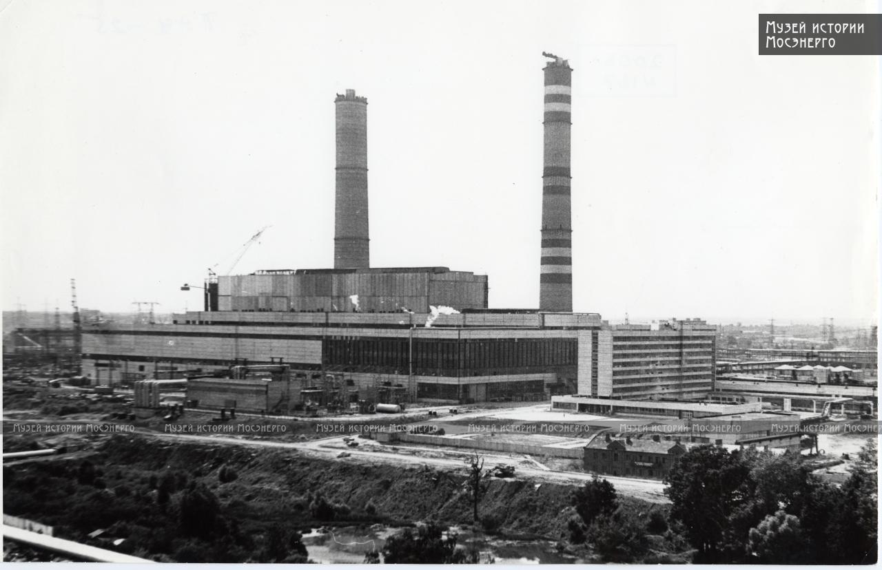 1980 вид на ТЭЦ-25