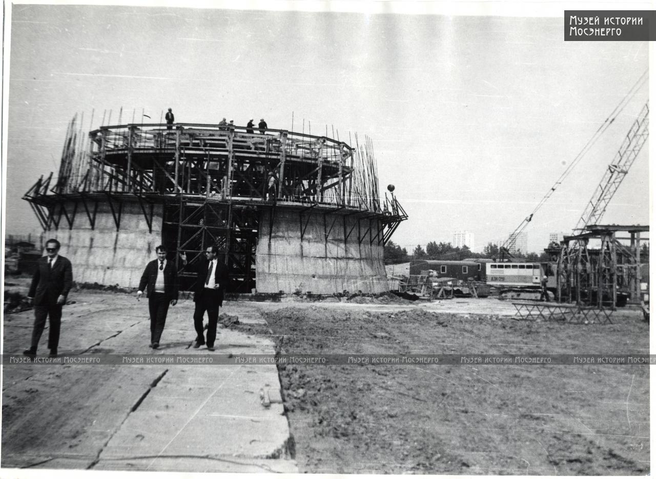 1974 строительство градирни Очаковской ТЭЦ