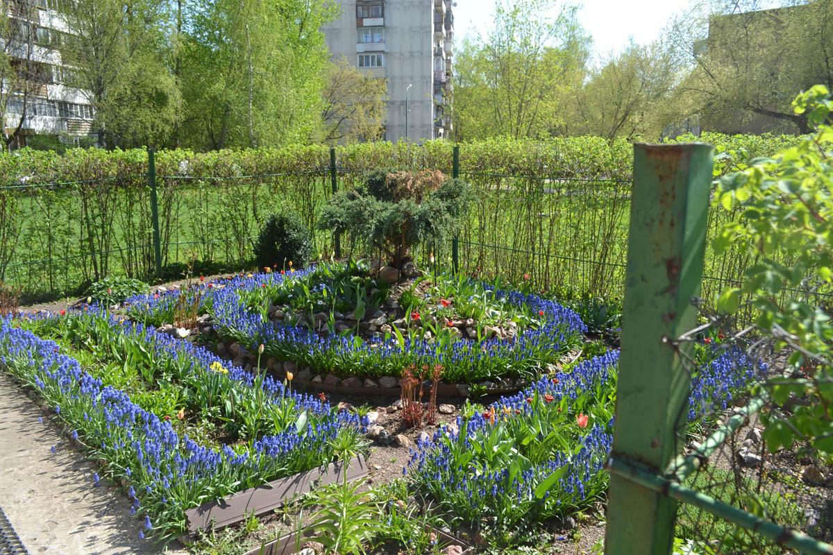 Весна во дворике за банями