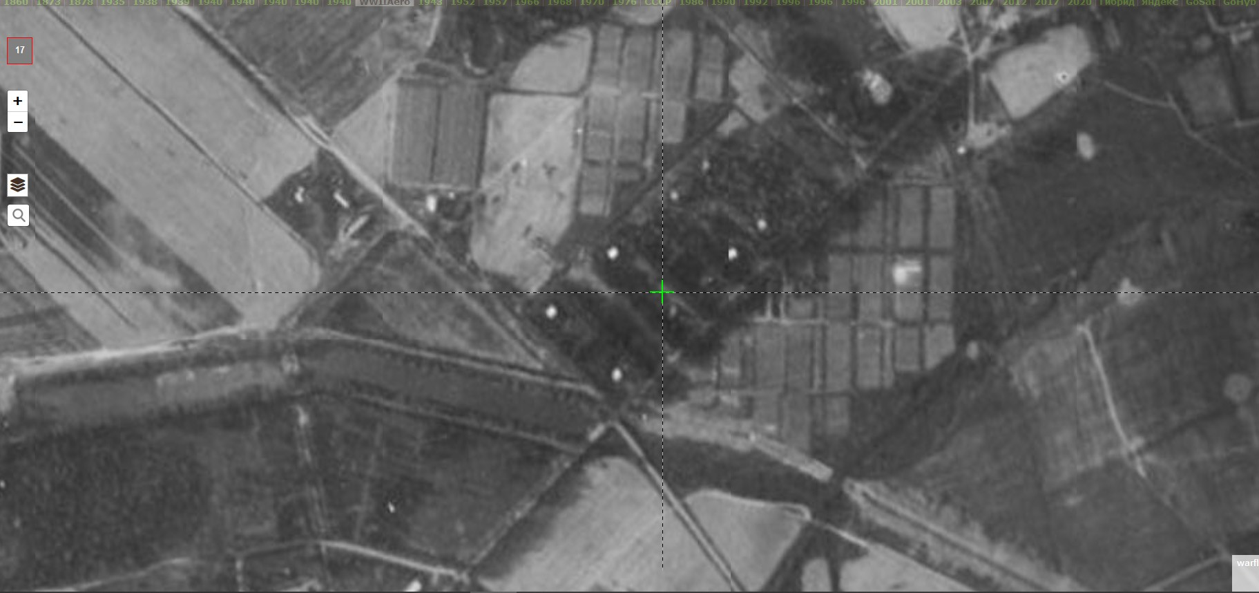 Пруды на реке Пустой Навершке 1942
