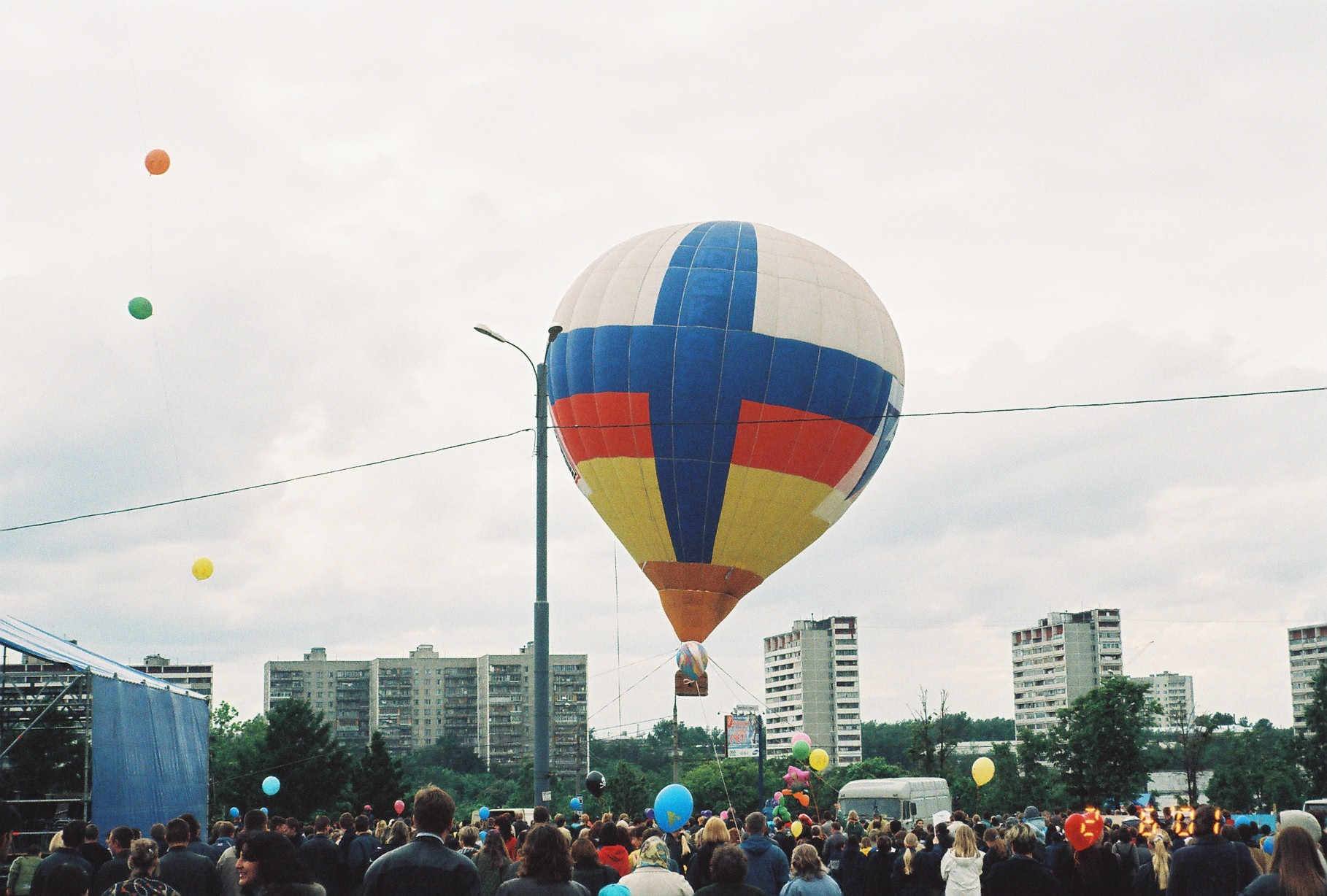 2001 празднование Дня детей 1 июня 2001 г. в Олимпийской деревне2