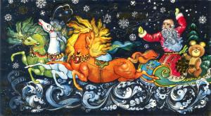 Wallpaper New Year's открытки СССР {ab5144}_002