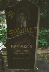 При изготовлении данного изображения ни одна могила Крючкова не пострадала