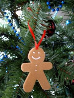 Laurel's felt gingerbread ornament