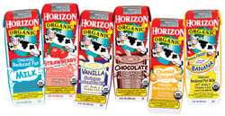 Horizon Organic single-serve milks