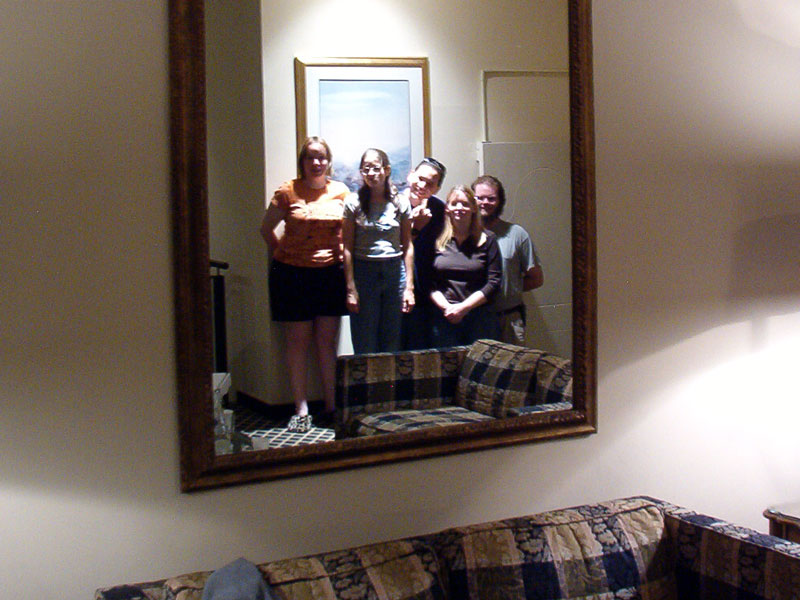 Neat mirrored group picture