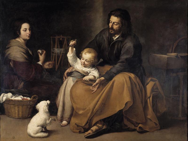 «Святое Семейство с птичкой». Мурильо Б. Ок.1650 г. 144 х188 см. Музей Прадо, Мадрид