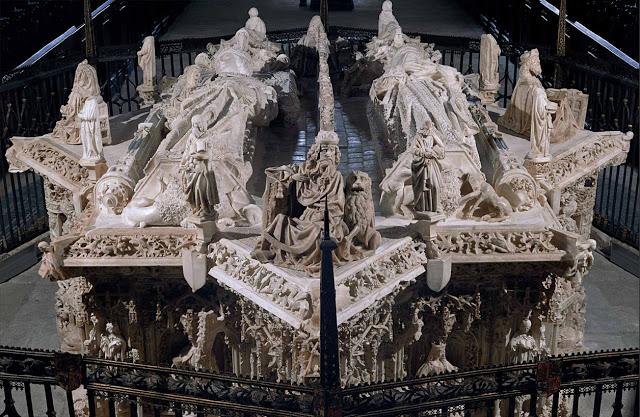 Хиль де Силоэ.Cartuja de Miraflores.Надгробия Иоанна II Кастильского и Елизаветы Португальской