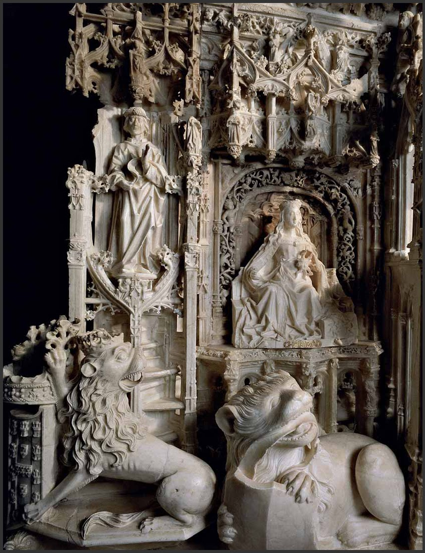 Хиль де Силоэ. Cartuja de Miraflores. Надгробия Иоанна II Кастильского и Елизаветы Португальской. Деталь