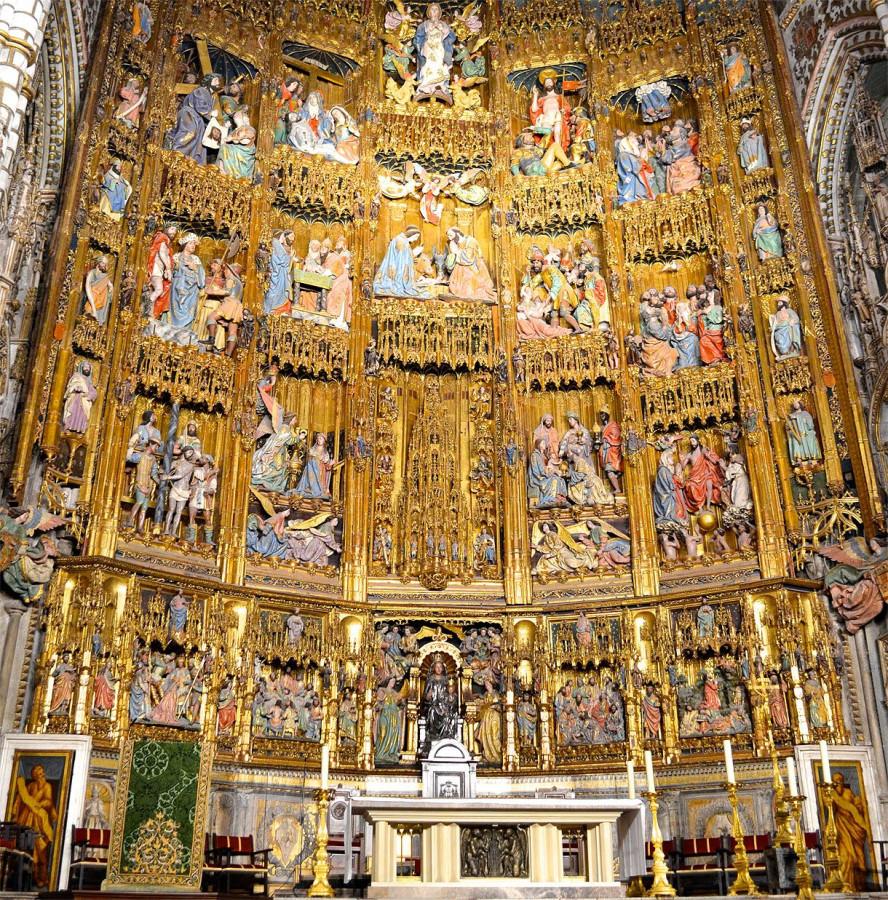 Алтарь Толедского собора. Petit Juan, Maestro Rodrigo, Copín de Holanda, Sebastián de Almonacid, Felipe Bigarny y otros… 1483-1492