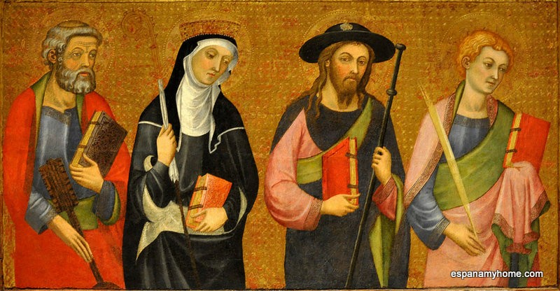 Пер Серра(Pere Serra)  Дева Мария с младенцем, окруженная ангелами 1399-1400 из Сео де Тортоса (Таррагона)