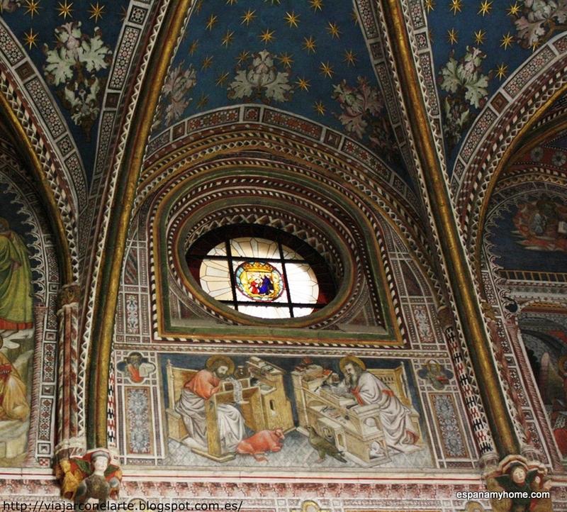 Pоспись стен часовни Санта Блас  Жерард Стармина( Gherardo Starmina) Николас Антонио ( Nicolas de Antonio)