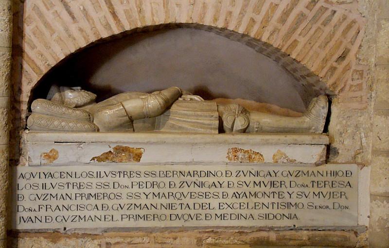 Bernardino de Zuniga y Guzman.  Monasterio de San Isidoro del Campo