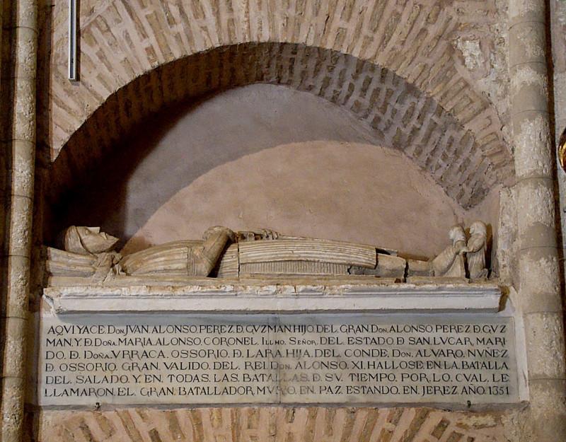 Juan Alonso Perez de Guzman.  Monasterio de San Isidoro del Campo