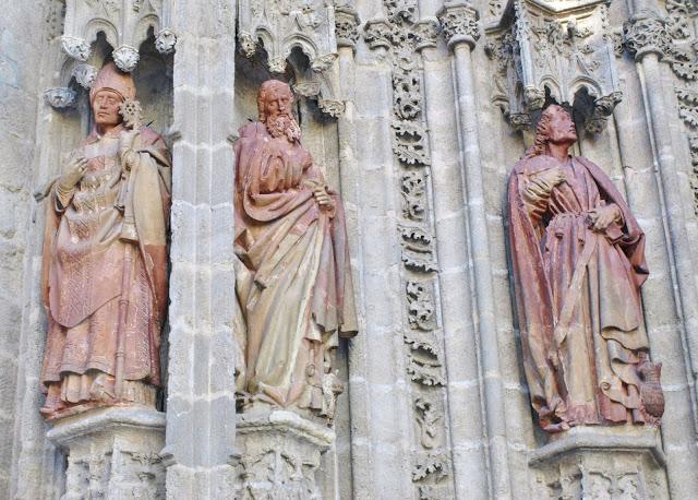Западный фасад  Кафедрального соборе Севильи. Lorenzo Mercadente de Bretaña. XV.
