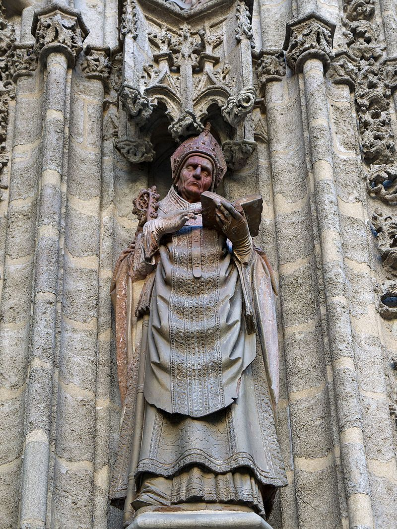 Кафедральной собор Севильи. Исидор Севильский. Портал Крещения.XV.  ГЛИНА