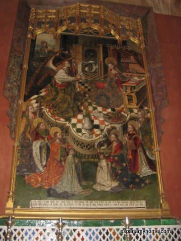 1475. La Anunciación. Obra de Pedro de Córdoba y se hace por encargo de Diego Sánchez de Castro para su capilla.
