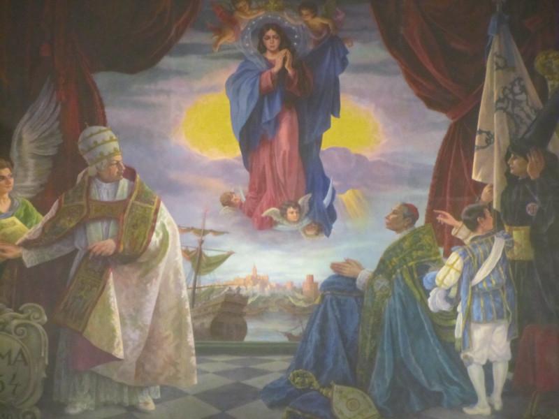 Alegoría de la Consagración del Misterio de la Inmaculada Concepción en 1.854. Alfonso Grosso, 1.966.