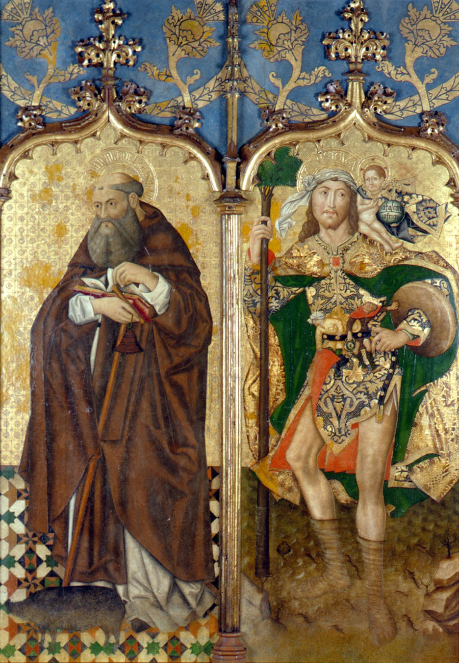 San Antonio Abad y San Cristobal. Museo de bellas artes. Sevilla