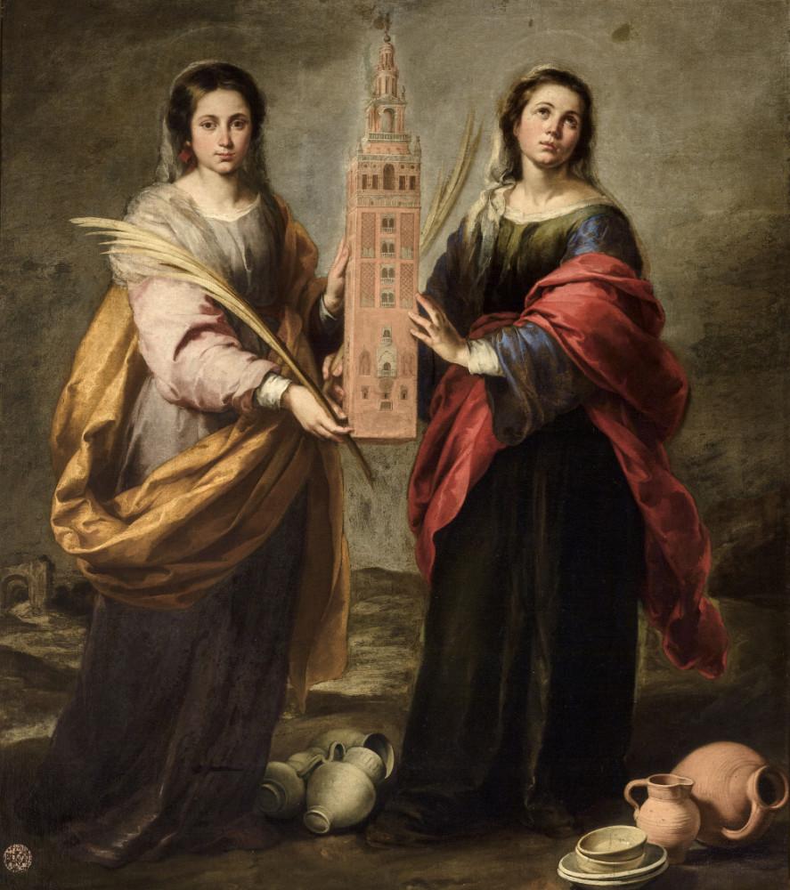 Bartolomé Esteban Murillo. Santa Justa y Santa Rufina. 1665-1666. Museo de Bellas Artes. Sevilla.